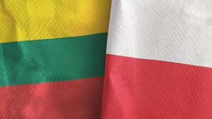 Poland,And,Lithuania,Two,Folded,Flags,Together,3d,Rendering
